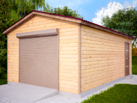 Деревянный гараж из бруса