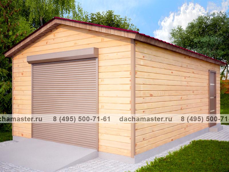 Каркасный гараж с плоской крышей