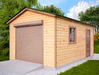 Деревянный гараж 4х6