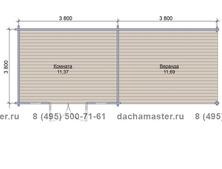 Одноэтажный домик 7638