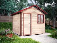 Садовая бытовка 3х3 с двухскатной крышей