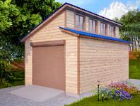 Каркасный гараж 6х4 с двухскатной крышей