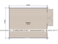 Одноэтажный домик 4050