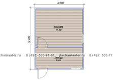 Одноэтажный домик 5х4