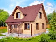 Зимний жилой дом из бруса 9х7