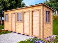 Деревянная постройка 6х1.5 три отделения