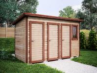 Деревянная постройка 4х2 три отделения