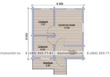 Дом с крыльцом 6х6