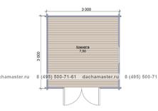 Одноэтажный домик 3030