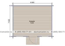 Одноэтажный домик 3830