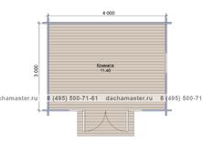 Одноэтажный домик 4030