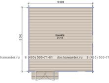 Одноэтажный домик 5050