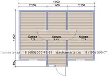 Одноэтажный домик 6х4 деревянный