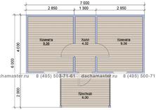 Одноэтажный домик 7х4