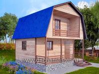 Каркасный дом деревянный 6х6
