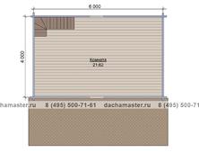 Домик 6 на 4 двухэтажный