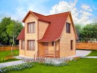 Двухэтажный загородный дом
