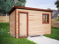 Дачный хозблок деревянный 4х2