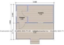 Одноэтажный домик 5х4.6