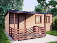 Одноэтажный домик 6х4 с навесом