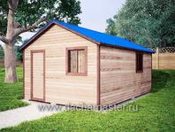 Каркасный домик 6х4 двухскатная крыша
