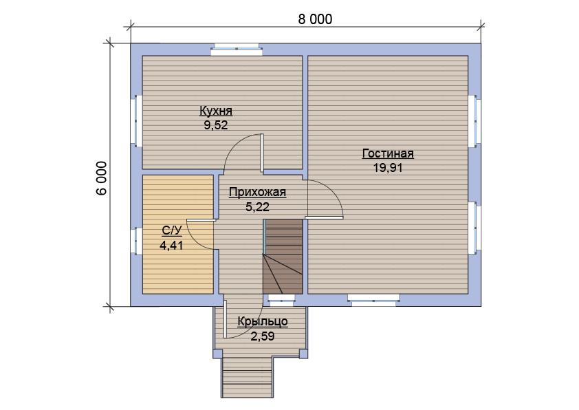 Дачный дом из бытовок