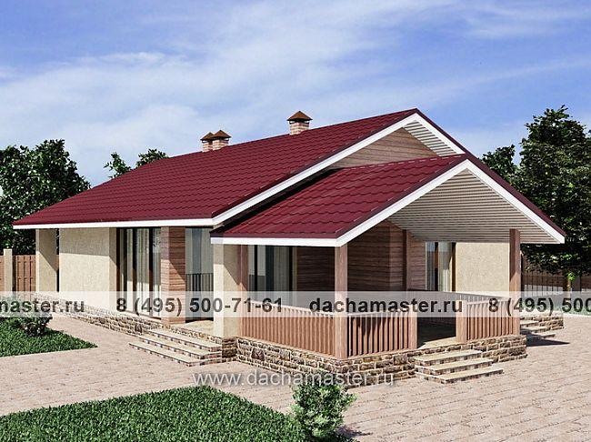 Одноэтажные дома из бруса под ключ  проекты и цены