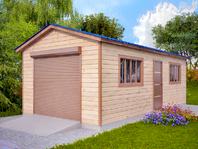 Деревянный гараж 4х8