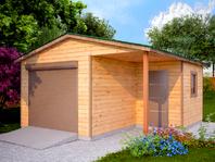 Деревянный гараж 5.4х6
