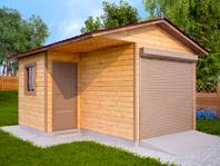 Деревянный гараж 4х5.2