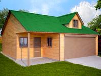 Деревянный гараж 9х9