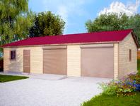 Деревянный гараж на две машины 12х8