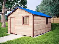 Садовая бытовка 6х4 с двухскатной крышей