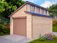 Деревянный гараж 6х4 с двухскатной крышей