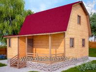 Каркасный дом деревянный 6х8
