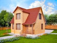Двухэтажный дом из бруса 9х7