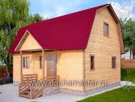 Каркасный деревянный дом 6х8