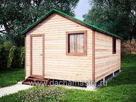 Одноэтажный домик 6х3.8