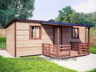 Одноэтажный домик 7х3