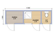 Душ для дачи деревянный 5х1.5