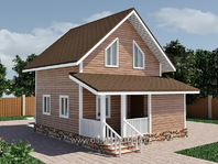 Веранда из бруса к деревянному дому