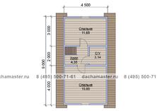 Каркасный двухэтажный дом 6х9