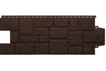 Фасадные панели Grand Line крупный камень стандарт коричневый