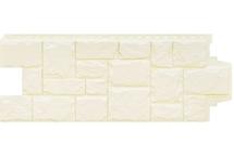 Фасадные панели Grand Line крупный камень стандарт молочный