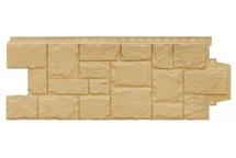 Фасадные панели Grand Line крупный камень стандарт песочный