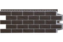 Фасадные панели Grand Line состаренный кирпич премиум шоколадный