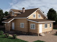 Жилая пристройка к деревянному дому 7х3