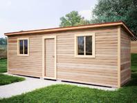 Деревянная постройка 7х2 распашонка