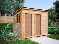 Деревянная постройка 3х2 два отделения