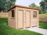 Деревянная постройка 4х2 два отделения